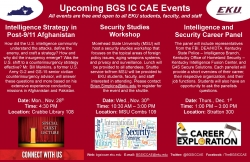Upcoming BGS IC CAE Events - November and December 2016